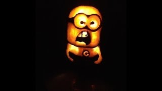 How to Carve a Minion Pumpkin for Halloween! Easy Carving With Shading!