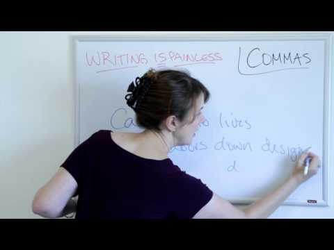 Writing Is Painless 3: The Common Uses of Commas