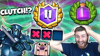 12 WIN PEKKA RAGE DECK! DID WE CLUTCH?! | Clash Royale | CLOSET RAGE CHALLENGE MATCH EVER!