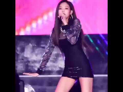 BLACKPINK Jennie Struggling To Keep Her Short Skirt From Lifting Up