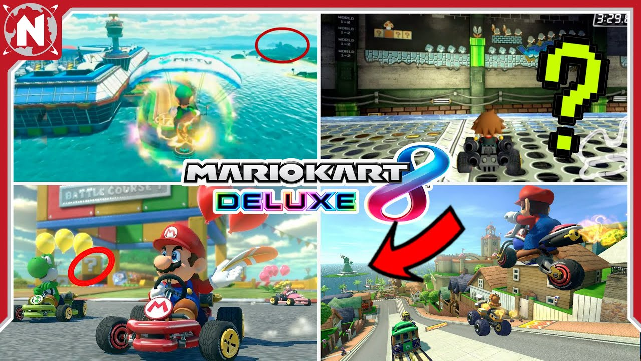 TODOS los EASTER EGGS de Mario Kart 8 Deluxe