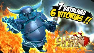 BATALHANDO COM SUPER PEKKA NV 16 - CLASH OF CLANS - BASE DO CONSTRUTOR