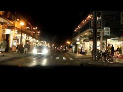 Night drive down Front st. in Lahaina, Maui, Hawaii