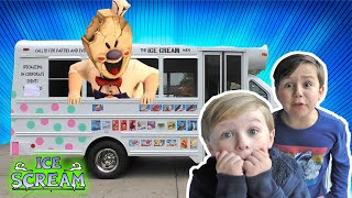 Ice Scream Horror Game in Real LIfe | Scary Ice Cream Man Skit