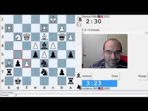 5 minute chess #550: GM Daniel Naroditsky vs IM Greg Shahade