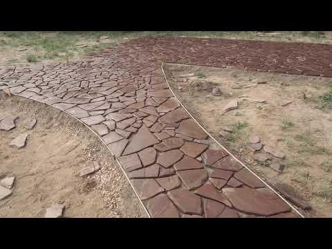Укладка камень от Ильи Экокамни   Красная галтвка   Плитняк