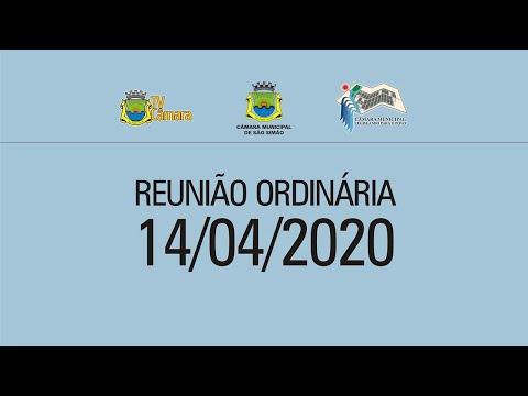 REUNIAO ORDINARIA 14/04/2020