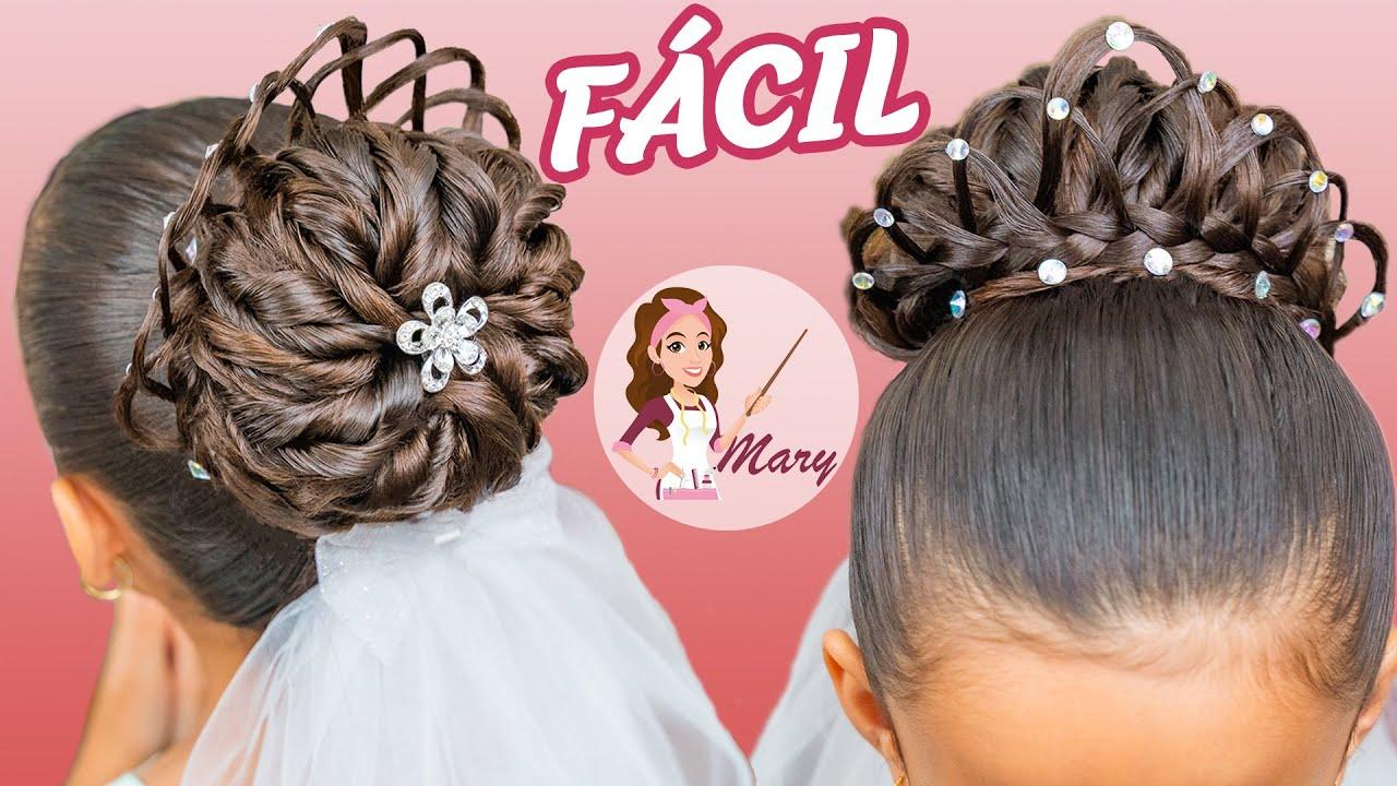 Completamente imperfecto peinados para primera comunion Imagen De Consejos De Color De Pelo - Peinados Para Nina Elegantes Con Corona - change comin