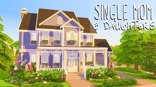 Single Mom, 3 Daughters 👧👧👧 // Sims 4 Speed Build