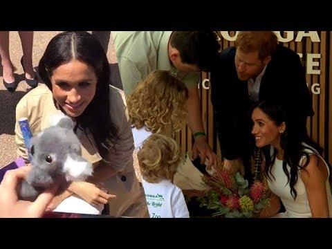 The Morning Breeze - Watch This Little Girl Give Duchess Meghan Markle A Stuffed Koala!