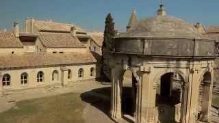 La Chartreuse de Villeneuve-lez-Avignon vue du ciel