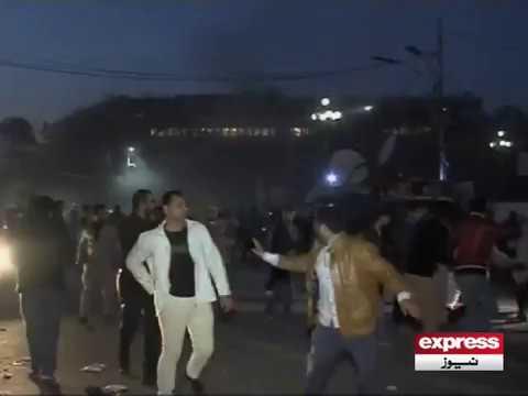 لاہور میں دھماکے کے وقت کی خصوصی فوٹیج