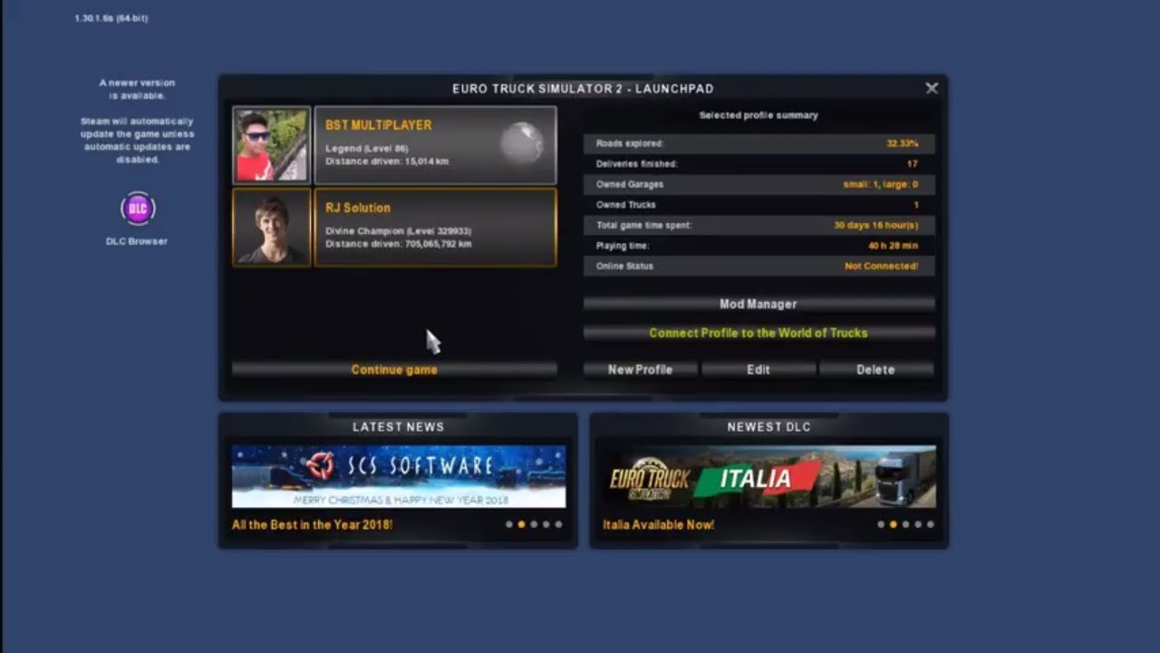 How to Change Profile Name in ETS2/ATS2 || RJ Solution ||
