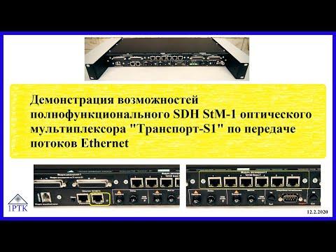 Передача Ethernet через SDH STM-1. Возможности оптического мультиплексора «Транспорт-S1».