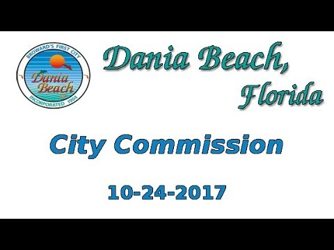 10-24-2017 Dania Beach Commission Meeting