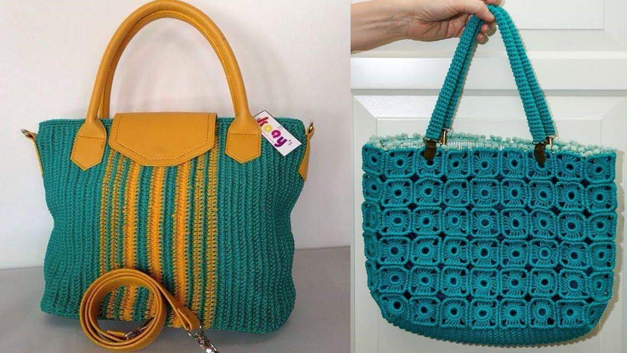 Las carteras mas eelgante y elaboras tejidas  a mano/modelos hermosos en crochet