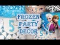 4 DIYs for Frozen Themed Birthday Decoration from Dollar Tree supplies