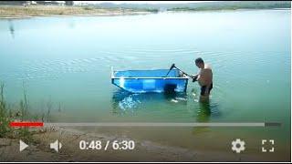 Лодка из сотового поликарбоната + эл  мотор 3 Boat made of cellular polycarbonate