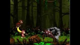 (SNES) Donkey Kong Country 2, All bosses + Ending