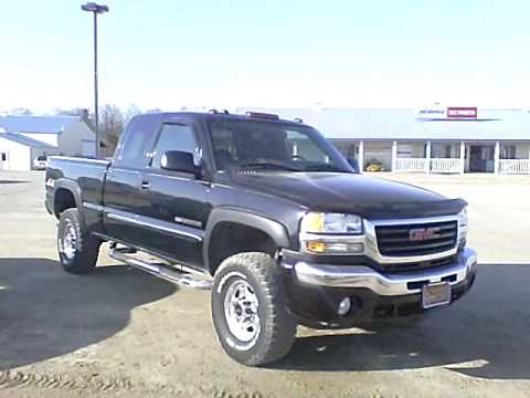 2004 gmc sierra 2500hd 4x4 ext cab black for sale. Black Bedroom Furniture Sets. Home Design Ideas