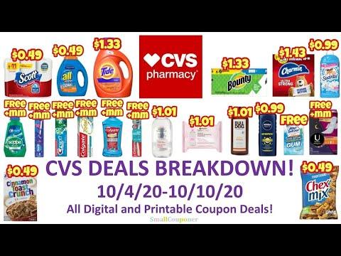CVS Deals Breakdown 10/4/20-10/10/20! Possible Glitches! All Digital and Printable Coupon Deals!