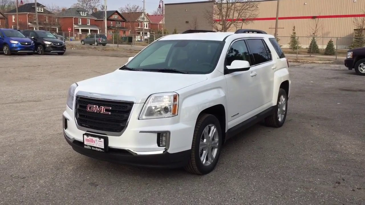 2017 Gmc Terrain Awd Electronic Climate Control White Oshawa On Stock 170884