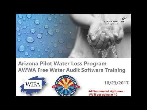 AZ Pilot Water Loss Program  AWWA Software Training