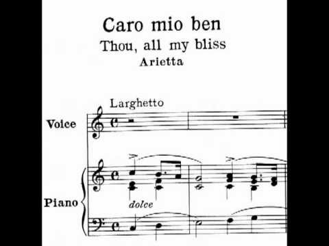 Caro mio ben - Learn Italian Songs with Chai-lun Yueh Series (piano: Qi Liu)