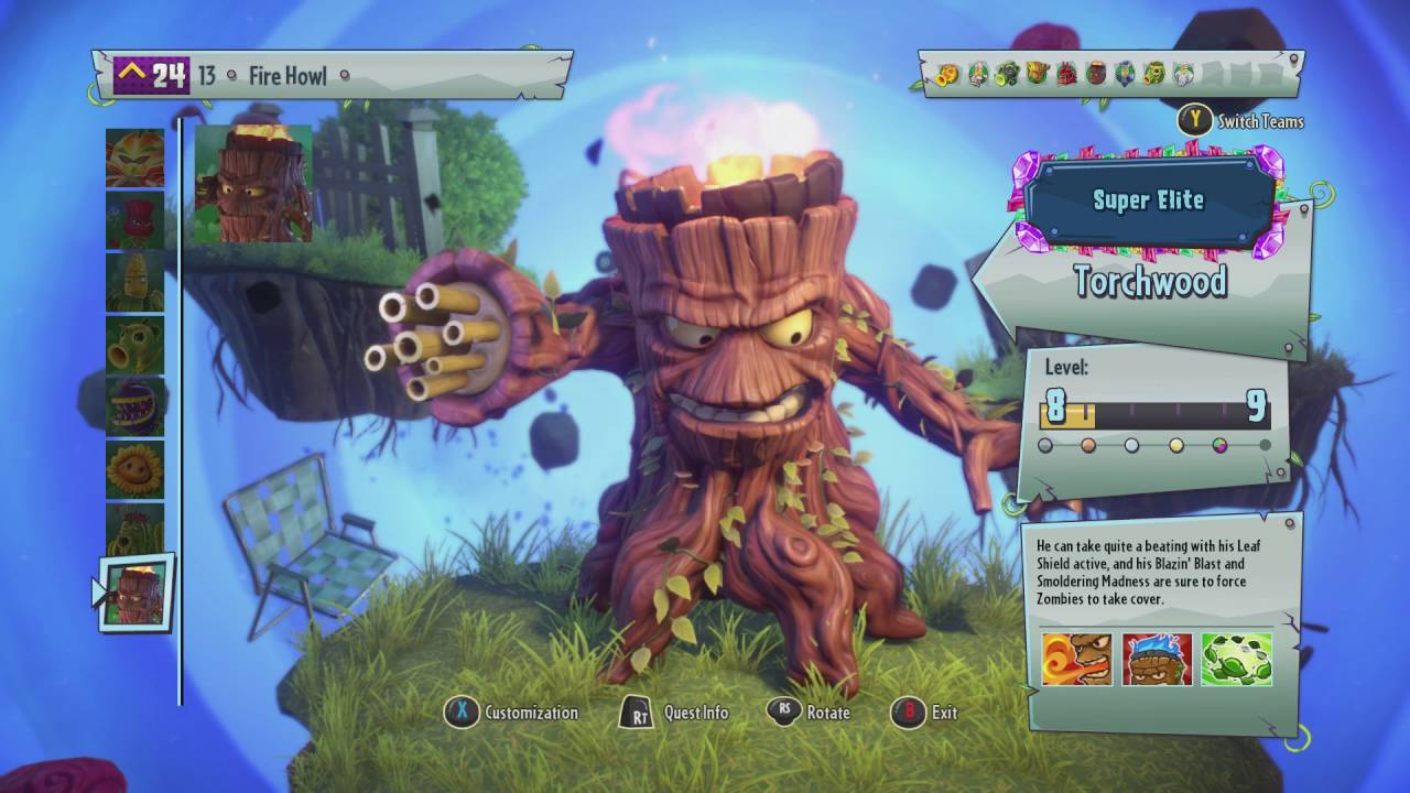 Torchwood Plants Vs Zombies Garden Warfare 2 Xbox One Youtube