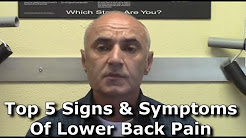 Five Lower Back Pain Symptoms | Burlington Ontario
