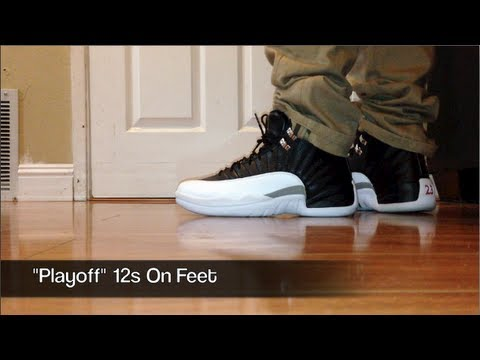 Playoff 12s On Feet Youtube