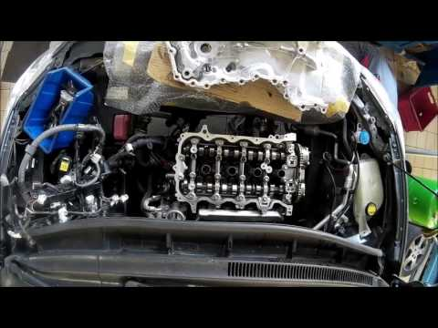 Фото к видео: 1NR FE engine repair on car - video lapse