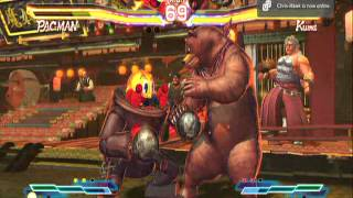 pac-man and megaman in street fighter X tekken gameplay