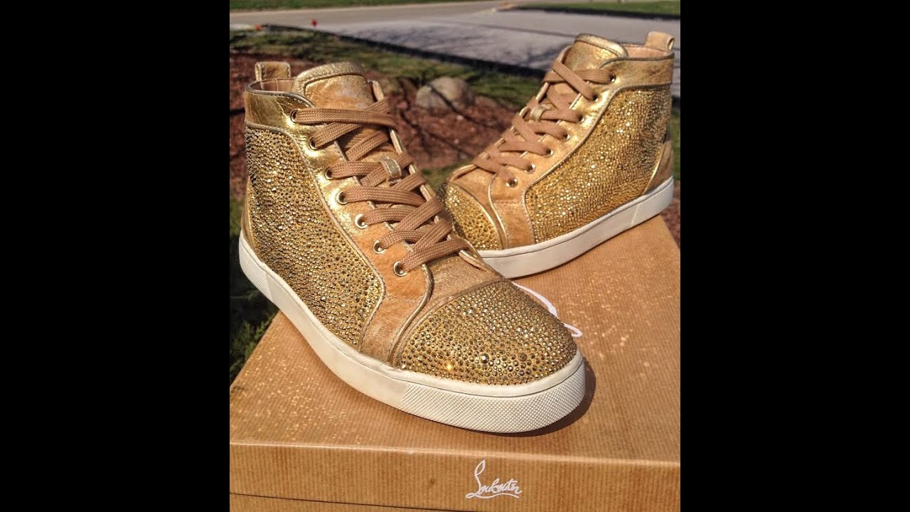 eec23c8916a christian louboutin stores in united states christian louboutin black and  gold sneakers