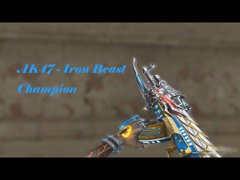 cf-xiexl:-ak47-iron-beast-champion-(bot-sim)-gameplay-by-师长游戏解说