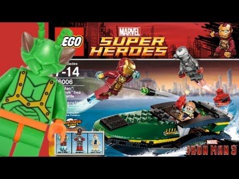 LEGO Iron Man 3 Extremis Sea Port Battle Review 76006