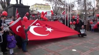 Karaman'da 14 Aralık operasyonuna protesto
