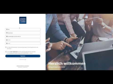 Registrieren in der EUROPATHEK