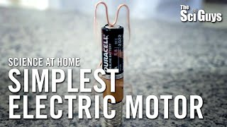 The Sci Guys: Science at Home - SE3 - EP8: Simplest Electric Motor - Homopolar Motor