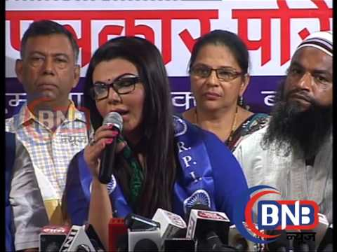 Rakhi Sawant joins RPI, ready to fight against Raj Thackeray