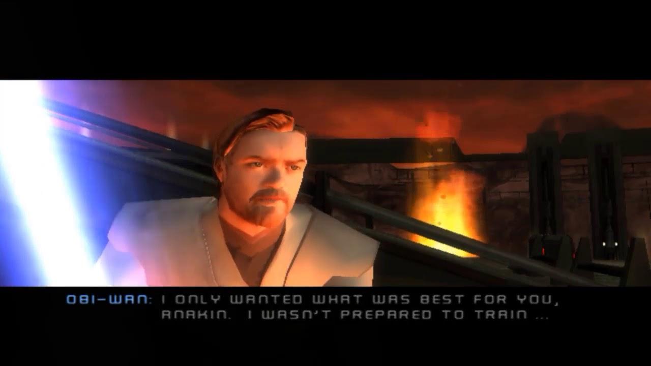 Anakin Vs Obi Wan Alternate Ending Ps2 Youtube