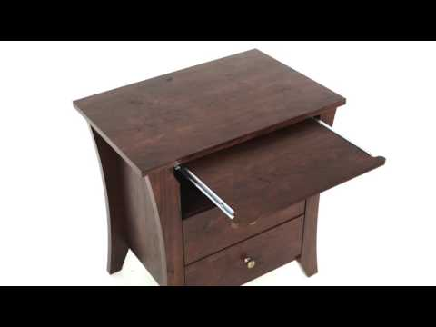 How to use Night Stand Bedside Table Furniture Wood Drawer Nightstand Solid Shelves Metal