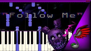 [FNAF SONG] TryHardNinja - Follow Me (Piano Tutorial by Danvol) - Synthesia HD
