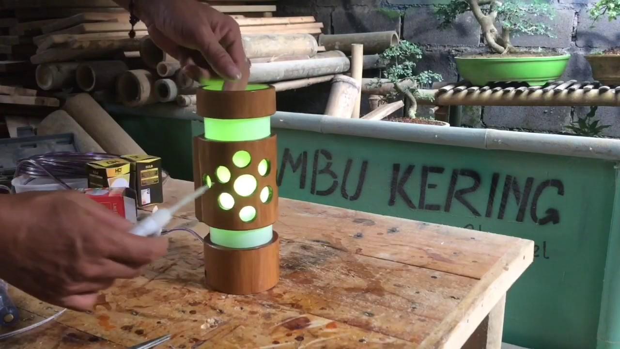 Kerajinan Tangan dari Bambu, Membuat Lampu Dinding ...