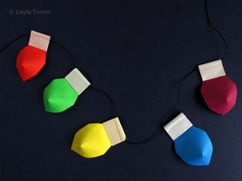 Make Origami Christmas Lights -Luces de Navidad - Make Origami Christmas Lights -Luces De Navidad - YouTube