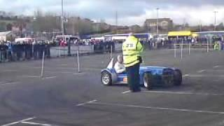 Noel Cochrane and Ashley Lamont  precision driving autotest display