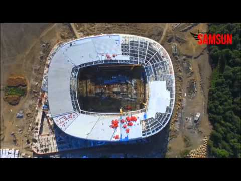 Samsunspor'un Yeni Stadında Son Durum Yeni Havadan Görüntüler / 1 Mayıs 2016