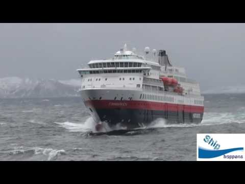 Cruise ship in Rough seas in Norway