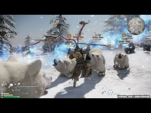 Dynasty Warriors 9 - Lu Bu flies over the Great Wall to fight Polar Bears in Mongolia
