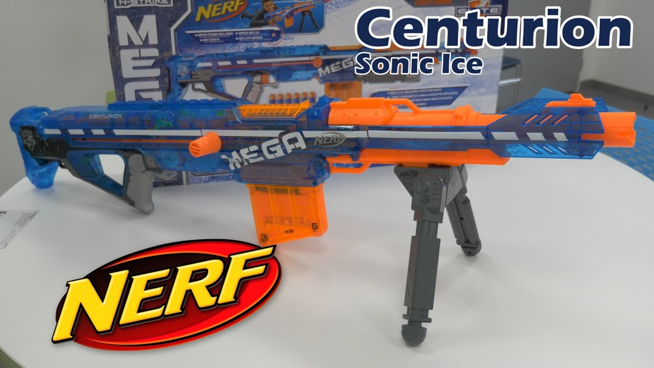 Nerf Mega Centurion (Sonic Ice) - Démo du jouet pistolet